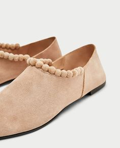 Image 5 of SPLIT SUEDE SLIPPERS WITH TASSELS from Zara