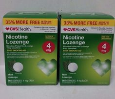 Gum and Lozenges: 2 Pack Cvs Nicotine Lozenge 4Mg Mint 96 Lozenges Ea. Exp 11 17 -> BUY IT NOW ONLY: $41.8 on eBay!