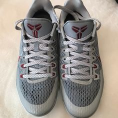online retailer 7c41e 64bff Nike Shoes   Nike Kobe Sneakers   Color  Gray Red   Size  Mens 7.5 Womens 9