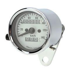 13000 RPM Tachometer Speedometer Dual Odometer Gauge With Black Bracket Universal for Motorcycle