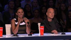 Duo Vladimir: Hand Balancers Perform With Knives - America's Got Talent 2015 | Voonathaa
