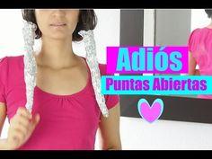 CÓMO ELIMINAR LAS PUNTAS ABIERTAS /REMEDIOS CASEROS PARA CABELLO MALTRATADO - YouTube