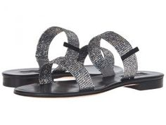 SJP by Sarah Jessica Parker Wallace (Silver Scintillate/Black Nappa) Women's Shoes