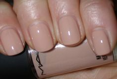 MAC - Nude nail polish.