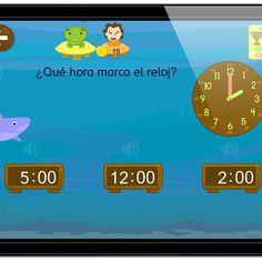 reloj juego horas de #tablet #movil #app #juegos #matematicas #aprenderlahora #reloj #Primaria