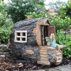 38 Best DIY Fairy Garden Furniture and Accessories Fairy Garden Furniture, Fairy Garden Houses, Gnome Garden, Garden Art, Garden Design, Fairy Gardening, Twig Crafts, Large Flower Pots, Fairy Tree