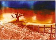 winter tree one of my encaustic art paintings