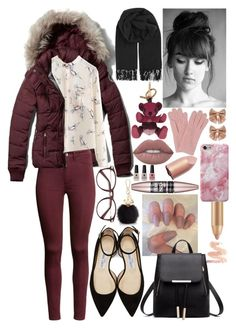 """""""Lovely"""" by miss-orchid ❤ liked on Polyvore featuring Abercrombie & Fitch, H&M, BeckSöndergaard, Jimmy Choo, Furla, Monsoon, Burberry, L.K.Bennett, Maybelline and Victoria's Secret"""
