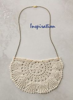 DIY Tutorial: Anthropologie's Cluny Lace Necklace | Fashion