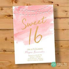 Your place to buy and sell all things handmade Sweet Sixteen Birthday Invitations, Sixteenth Birthday, birthday girl, Sweet 16 invites, teen Teen Girl Birthday, Sweet 16 Birthday, 13th Birthday, Birthday Parties, Birthday Games, Diy Birthday, Farm Birthday, 16th Birthday Ideas For Girls, Women Birthday