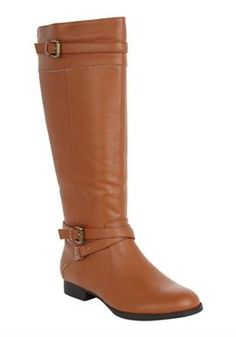 Plus Size Janis Leather Wide Calf Boot