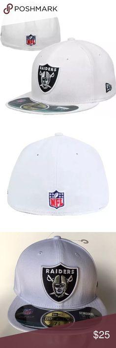 944ea353fdd New Era Oakland Raiders On Field Hat 7 New Era Oakland Raiders Official On  Field Fitted Hat Cap Size 7 Brand   NewEra Style   Size   7 Color   White  ...
