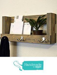 Handmade Entry Wall Organizer Keys Phone Mail Holder Coat Rack Hooks Rustic Entryway Shelf Weathered gray from RusticModernDecor http://www.amazon.com/dp/B016ROMBC2/ref=hnd_sw_r_pi_dp_PNiuwb1P4B4QP #handmadeatamazon