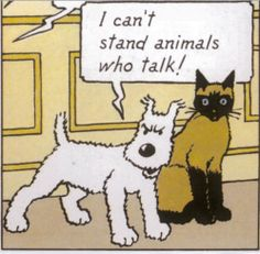 Tintin - The Castafiore Emerald, Clayface, art by Andy Clarke, Suicide Squad Dark Knight Rises DVD display Tin Tin Cartoon, Captain Haddock, Animal Tv, Herge Tintin, Danger Girl, Talking Animals, Wire Fox Terrier, Fox Terriers, Ligne Claire