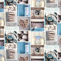 Tessuto spinato stampa digitale marine – blu