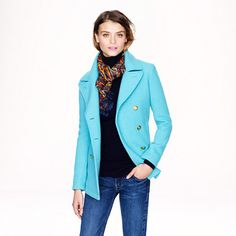 J.Crew - Majesty peacoat. Of course, I love this! Nice details. I like almost all of the color choices!