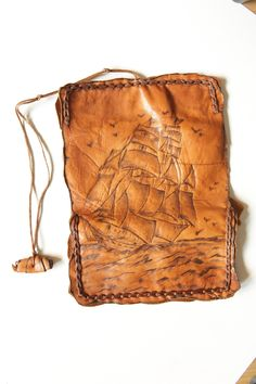 Handmade exclusive  leather tobacco pouch.. $35,00, via Etsy.