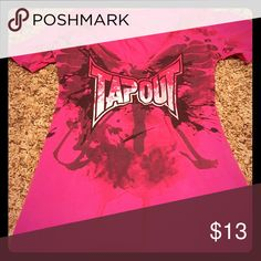 ‼️LAST CHANCE‼️ Pink Tapout Tee Pink Tapout tee is in great condition! Will be donated 2-15 if not sold. Tapout Tops Tees - Short Sleeve