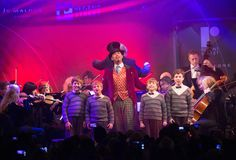 The incredible cast of Charlie and the Chocolate Factory gave an unforgettably engaging performance at the Lights switch on event. Chocolate Factory, West End, In The Heart, Christmas Lights, It Cast, The Incredibles, London, Concert, Street