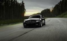 Indir duvar kağıdı BMW Z4 Coupe E85, Spor coupe, siyah Z4, Alman otomobil, BMW
