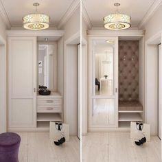 The post Garderobe – Meltem Şenolun appeared first on Dekoration. Hallway Furniture, Home Decor Furniture, Diy Home Decor, Hallway Decorating, Entryway Decor, Interior Exterior, Interior Design, Flur Design, Wardrobe Doors