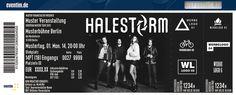 29 March 2015 Halestorm concert in Milano