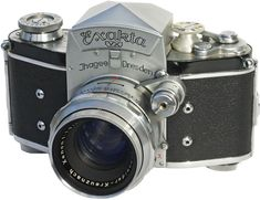 "Exakta VX -- famous for being Jimmy Stewart's camera of choice in Alfred Hitchcock's ""Rear Window"" (1954)"