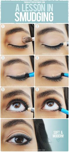 Easy step by step makeup tutorials  for beginners - Smudge Eyeliner