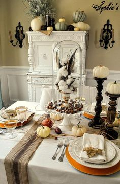 Rustic Glam Thanksgiving Table Setting :: Hometalk