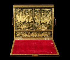 Antique Chinese lacquer writing box
