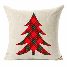 Cheap and Beautiful Christmas Pillow Covers for Holidays! These stunning Christmas throw pillows are perfect for decorating your living room on a budget. Plaid Christmas pillows, quilted, knit and gol Diy Pillow Covers, Diy Pillows, Decorative Pillow Covers, Throw Pillows, Applique Pillows, Pillow Ideas, Pillow Cases, Christmas Sewing Projects, Christmas Knitting