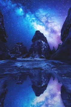 Reflected milky way, Saudi Arabia . Such a beautiful picture love the stars and scenery ^_^ ♥ Beautiful Sky, Beautiful Landscapes, Beautiful World, Beautiful Places, Simply Beautiful, Landscape Photography, Nature Photography, Landscape Photos, Photography Ideas