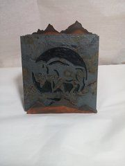 Buffalo Coasters with Holder