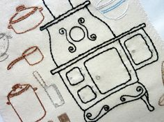 Farmhouse Kitchen Hand Embroidery Pattern by thestoryofkat on Etsy
