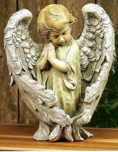 Angel Child praying with protecting wings - Engel Fotos - Statue Ange, Entertaining Angels, I Believe In Angels, Ange Demon, Garden Angels, Angel Pictures, Angels Among Us, Angels In Heaven, Angel Art