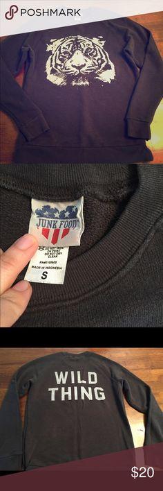 Junk Food Supersoft Wild Thing Sweatshirt Size S Fab condition, supersoft Junk Food lightweight sweatshirt. Women's size S. Junk Food Clothing Tops Sweatshirts & Hoodies