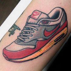 60 Nike Tattoo Designs For Men - Athletic Sneaker Ink Ideas Nike Tattoo, X Tattoo, Wrist Tattoo, Norway Tattoo, Tatto For Men, Floral Nikes, Castle Tattoo, Goddess Tattoo, Viking Tattoos