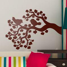 Vinilos Decorativos: Pareja de pájaros en la rama de un árbol #vinilo #pared #silueta #decoracion #casa #pájaro #ave #TeleAdhesivo