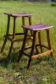 Wine Barrel Bar Stools by ByGordonLiving on Etsy, $180.00