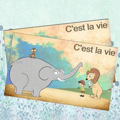 C'est+la+vie+-+přáníčko+Rozevíratelné+přáníčko+o+velikosti+20+cm+x+12,4+cm+je+vytištěno+na+kvalitním+papíře,+silnější+gramáže+-+200g+Jedná+se+o+originální,+autorský,+grafický+design+:o)+(C)+Dythree