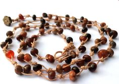 Wrap Necklace Agate Wrap Necklace Boho Chic Handmade Necklace