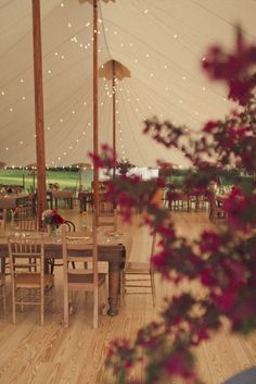 If I ended up doing an outside wedding in the fall this is a pretty spectacular way to do a tent :)