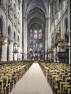 Notre Dame, interior, Paris, France