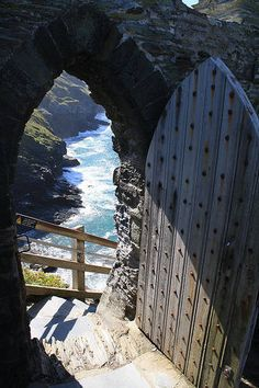Best Castles in England ~  The Magical Castles of Cornwall. Pictured, Tintagel,
