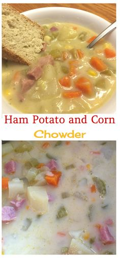 A creamy, hearty and filling ham potato corn chowder. This is a healthy warm chowder for cool nights.