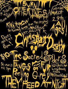 A rare Christian Death flyer