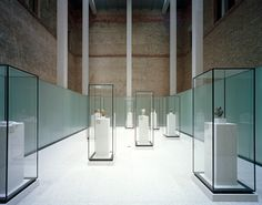 glass and metal museum display - Google Search