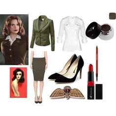 """""""Peggy Carter cosplay"""" by widows-bite on Polyvore"""