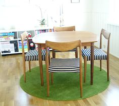 Teak Table and chairs by Rastad & Relling for Gustav Bahus  Norwegian mid-century design