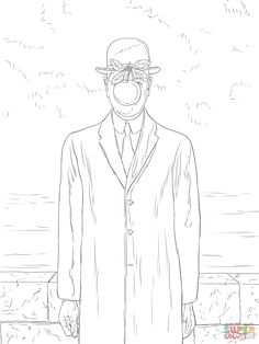 rene magritte coloring pages - photo#25